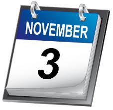 Saturday, November 3 Image