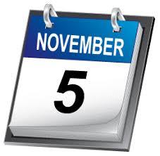 Monday, November 5 Image